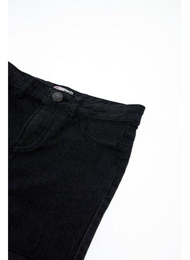DeFacto Kız Çocuk Mini Jean Şort Siyah